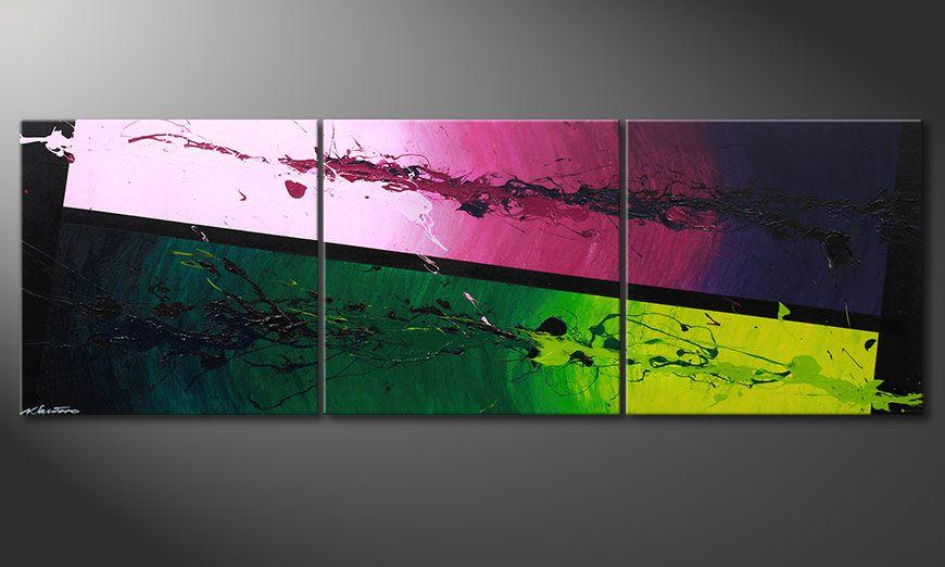 De schilderij Tropic Splash 210x70x2cm