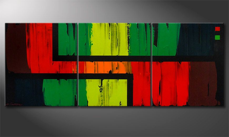De schilderij Urban Jungle 180x70x2cm
