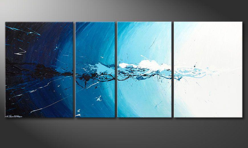 De schilderij Water Splash 170x70x2cm