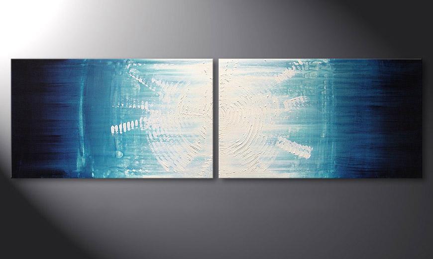 De schilderijMaelstrom 200x60x2cm