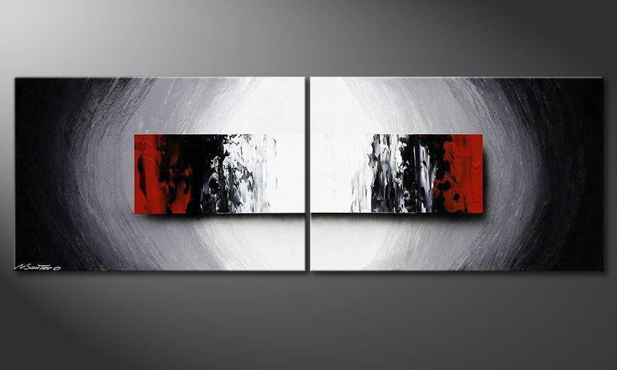 De schilderkunst Deep Space 120x40x2cm