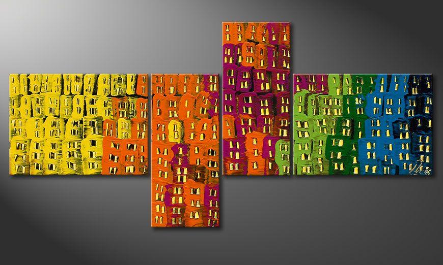Decoratieve schilderij Crazy Town 120x60x2cm