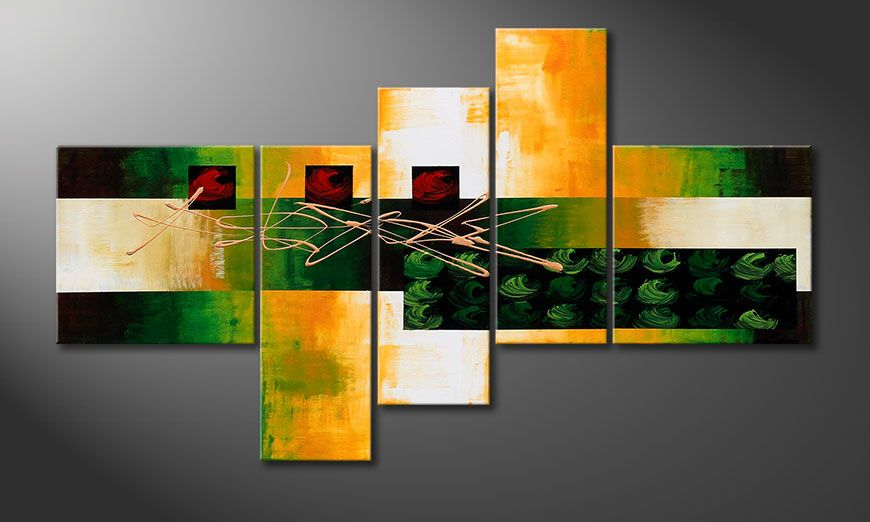 Decoratieve schilderij Quiet Love 130x75x2cm