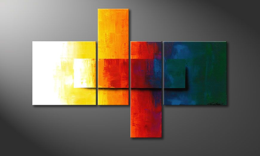 Decoratieve schilderij Rainbow Colors 120x80x2cm