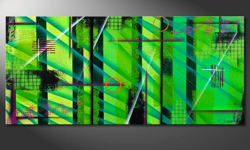 Endless Green 150x70x2cm Schilderij