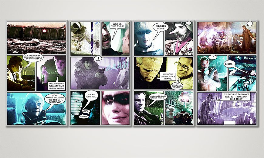 Fine-Art print Blade Runner 160x70x2cm