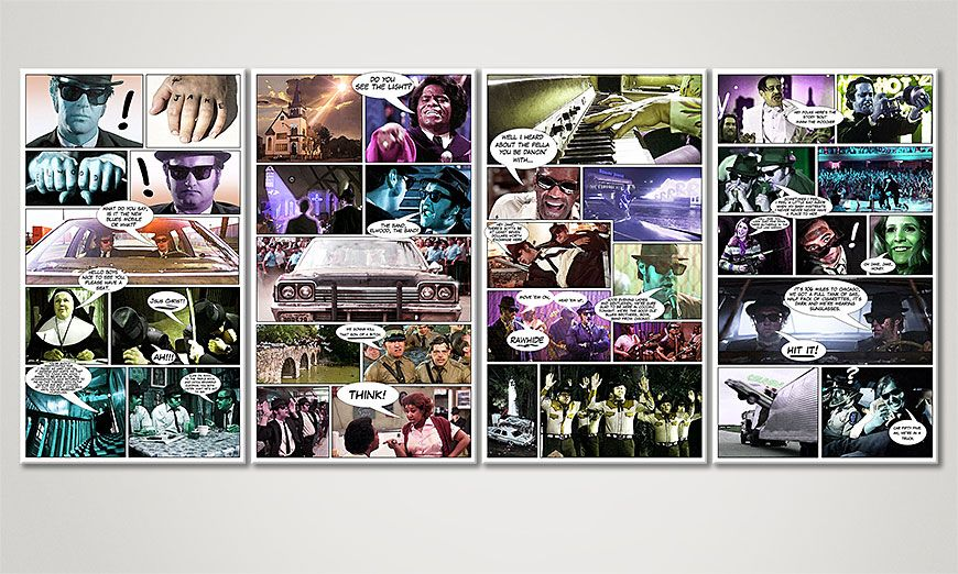 Fine-Art print Blues Brothers 160x70x2cm