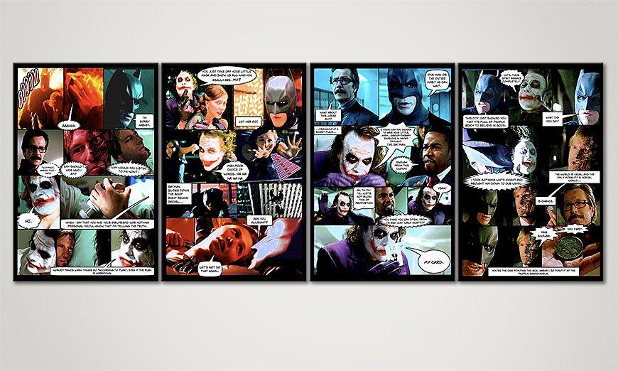 Fine-Art print Dark Knight 160x60x2cm