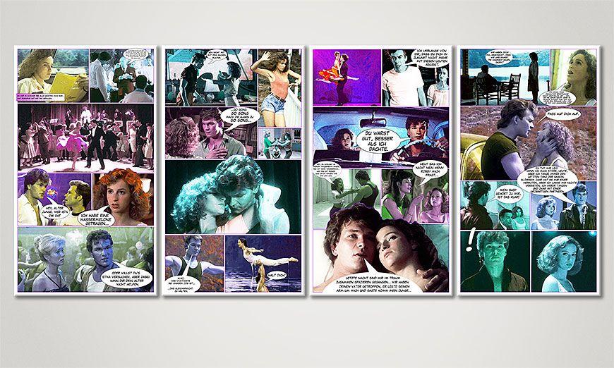 Fine-Art print Dirty Dancing 160x70x2cm