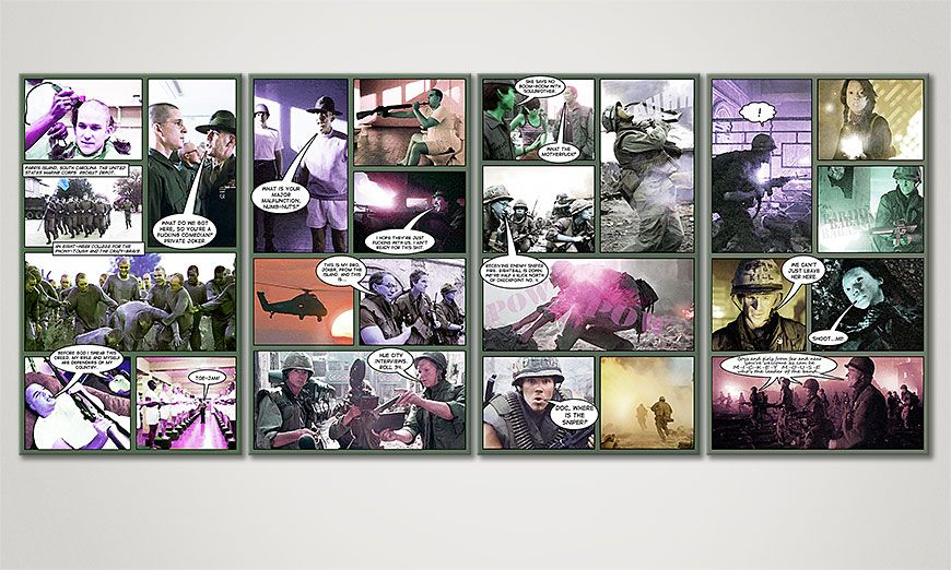 Fine-Art print Full Metal Jacket 160x70x2cm