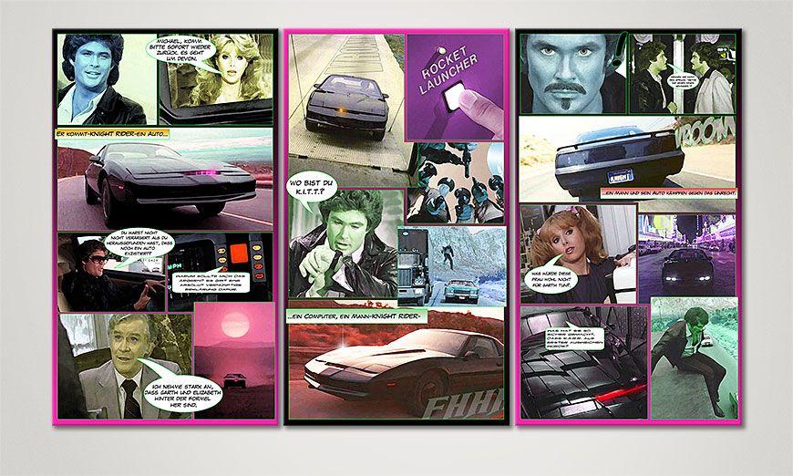 Fine-Art print Knight Rider 120x70x2cm