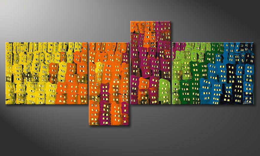 Groot formaat Crazy Town 240x100x2cm