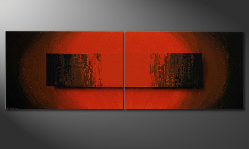 Grote moderne beeld Glowing Red 240x80x2cm
