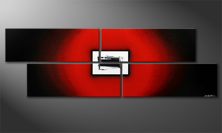Grote moderne beeld Lost Red 245x80x2cm