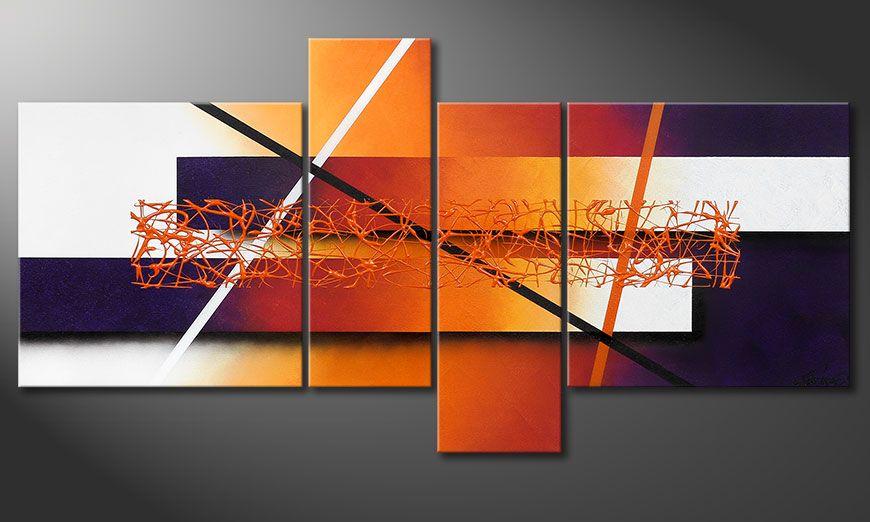 Handgeschilderd beeld Afterglowing Memories 130x65x2cm