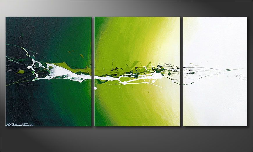 Het abstracte beeld Power of Nature 110x50x2cm