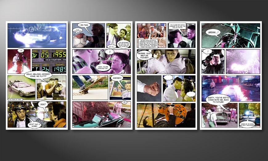 Het beeld Back to Future 160x70x2cm