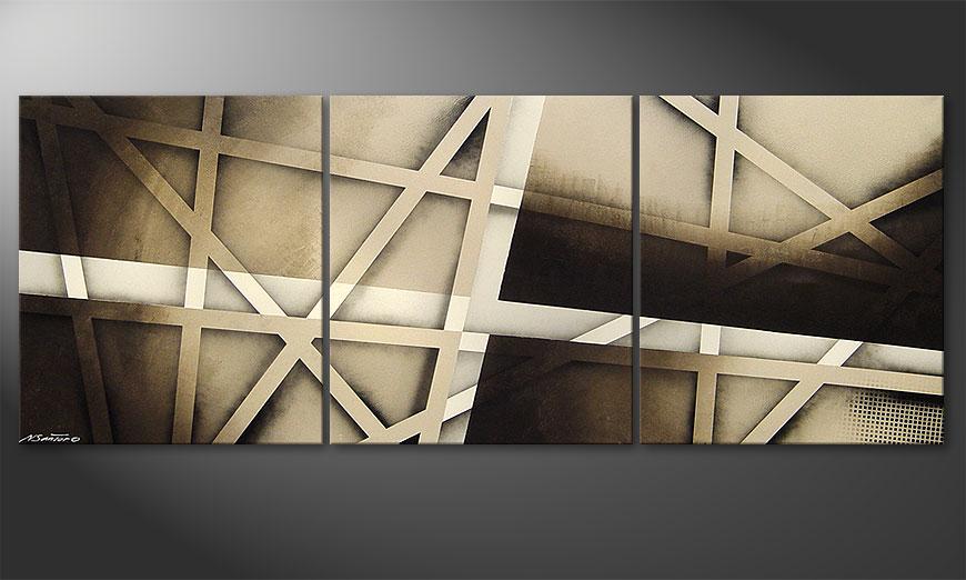 Het beeld Earthquake 180x70x2cm