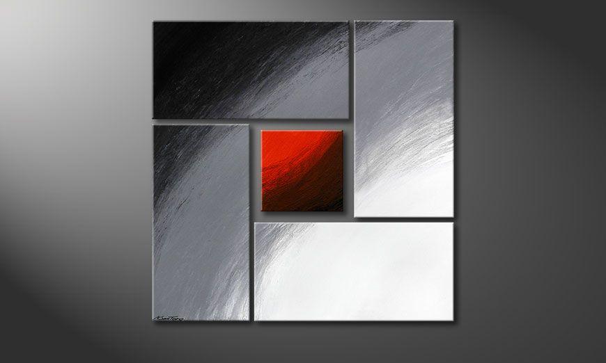 Het beeld Internal Heat 90x90x2cm (2 und 4cm)