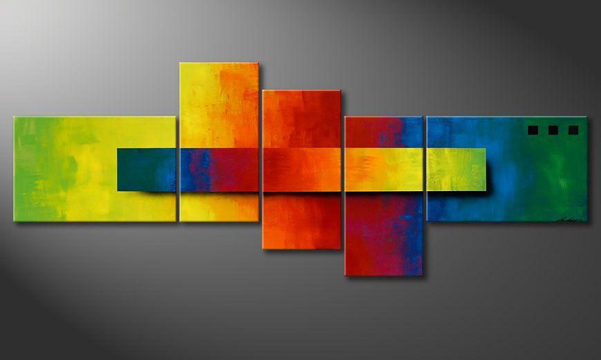 Het beeld Piece of a Rainbow 130x75x2cm