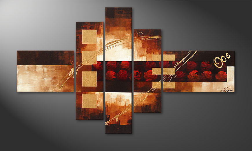Het beeld Rose Phantasies 150x90x2cm