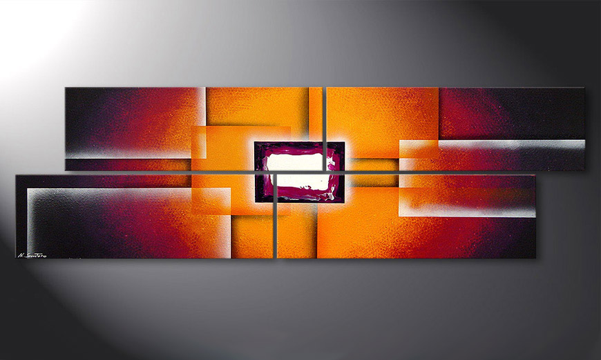 Het beeld Sunrise Construction 200x60x2cm