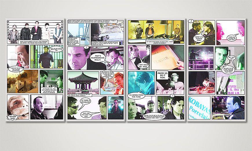 Het beeld The Usual Suspects 160x70x2cm