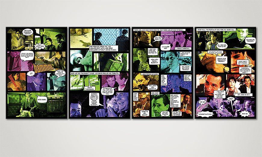 Het beeld comic stijl Good Fellas II 160x60x2cm