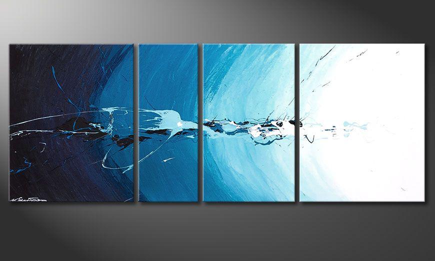Het blauwe beeld Water Splash 130x50x2cm