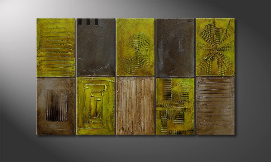 Het canvas Clarity Signs 150x90x2cm