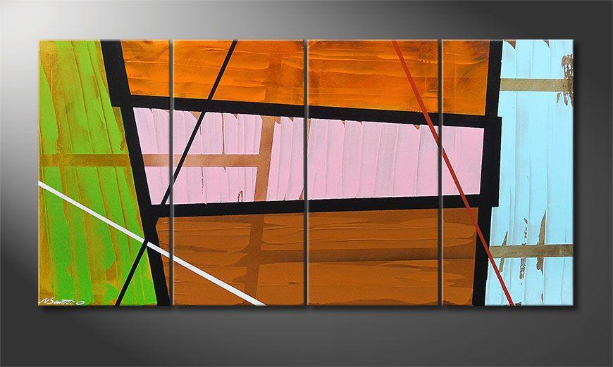 Het canvas Elementary 160x80x2cm