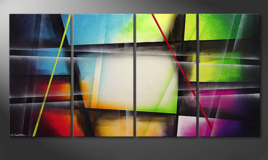 Het canvas Window to Rainbow 160x80x2cm