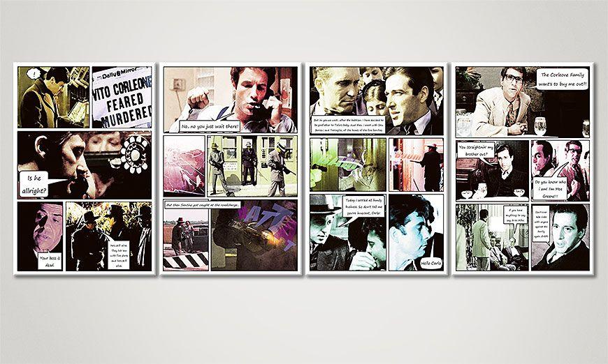 Het exclusief print The Godfather (Part B) 160x60x2cm