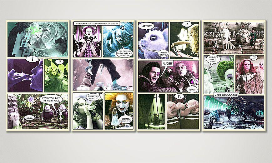 Het fantastische beeld Alice in Wonderland 160x70x2cm