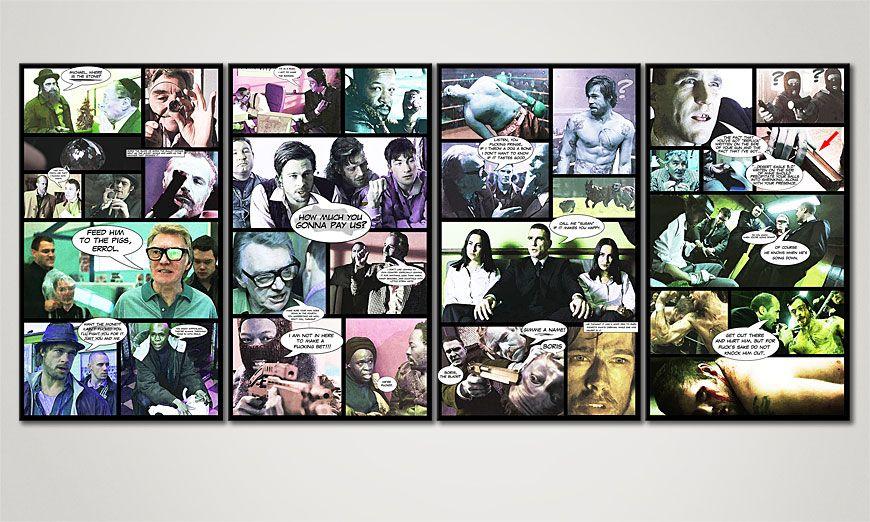Het gedrukte canvas Snatch 160x70x2cm