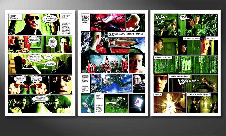 Het grote vanvas Matrix 180x90x2cm