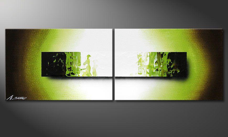 Het handgeschilderd beeld Jungle Fever 120x40x2cm