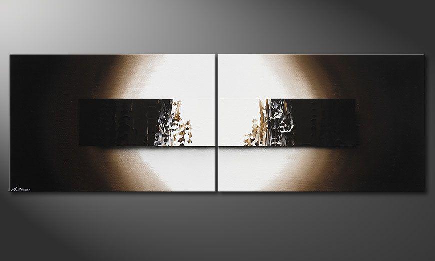 Het handgeschilderd beeld Light Rain 240x80x2cm