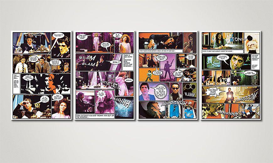 Het moderne Canvas Scarface 160x60x2cm