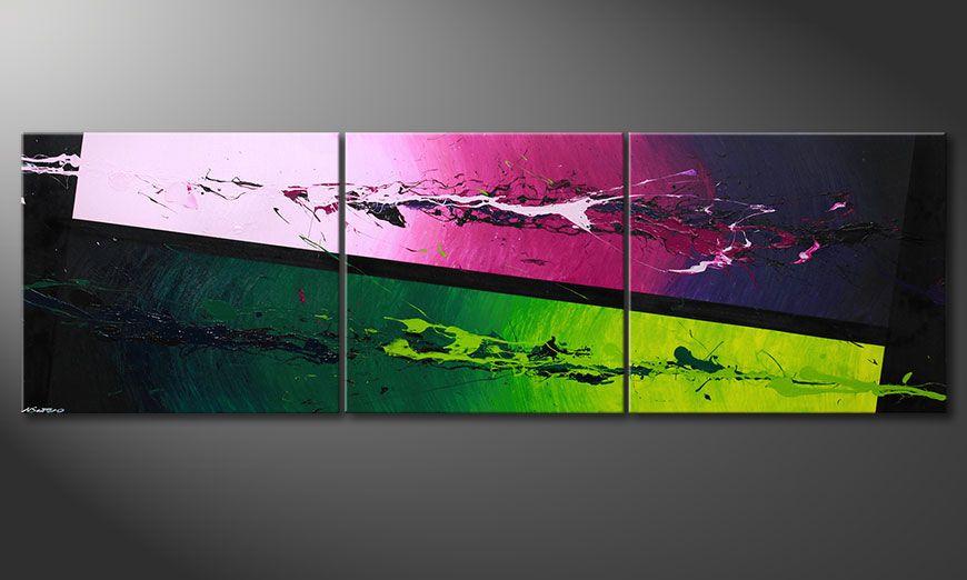 Het moderne XXL-beeld Tropic Splash 260x80x2cm