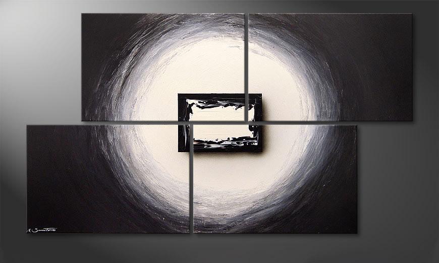 Het moderne beeld Black and White 140x80x2cm