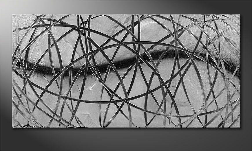 Het moderne beeld Broken White 100x50x2cm