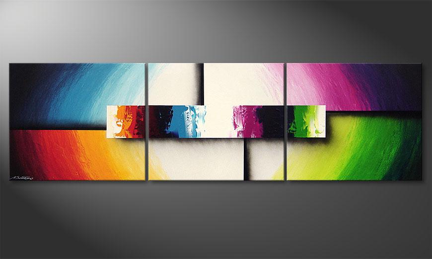 Het moderne beeld Colorful Life II 210x60x2cm