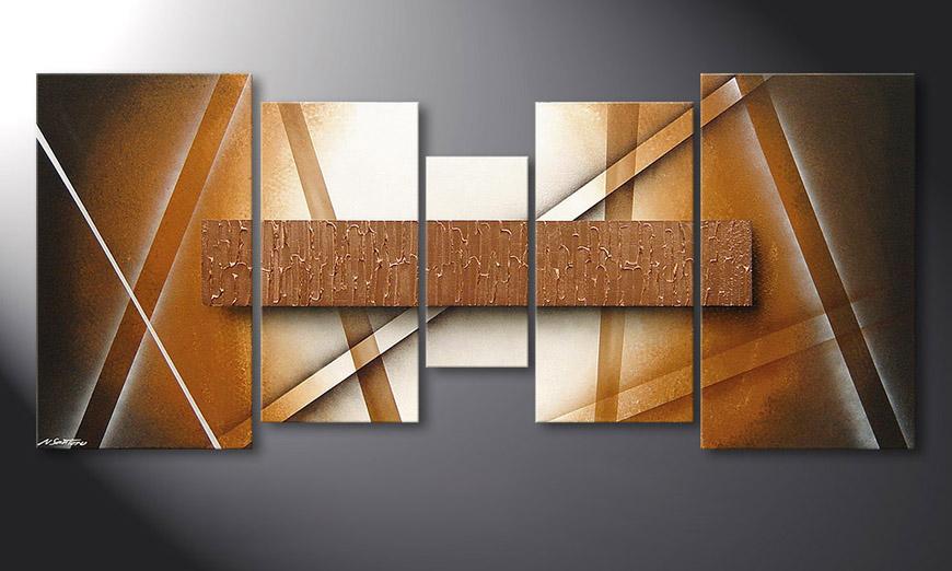 Het moderne beeld Copper Spectacle 160x70x2cm