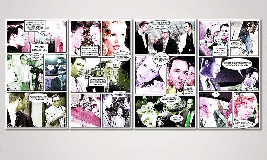 Het moderne beeld LA Confidential 160x70x2cm