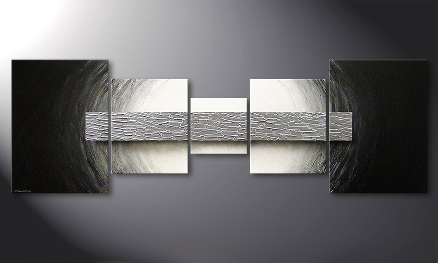 Het moderne beeld Silver Bar 210x70x2cm
