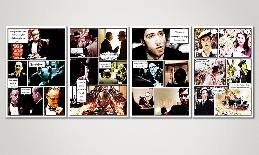 Het spannende beeld The Godfather (Part A) 160x60x2cm