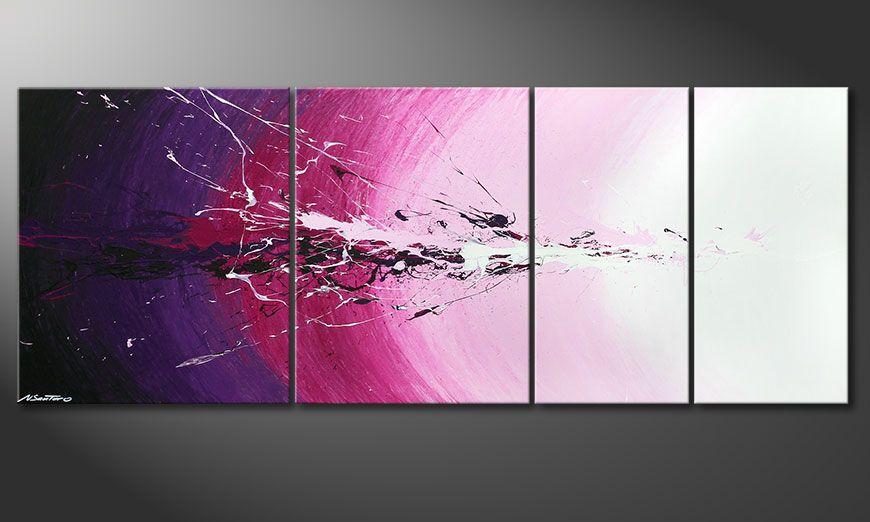 Meerdelige schilderij Cosmic Splash 210x80x2cm