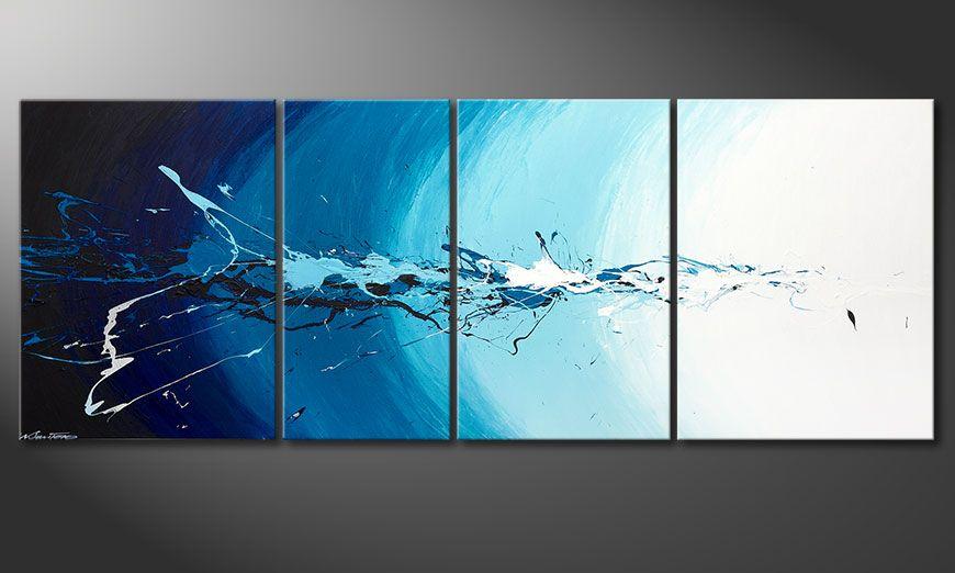 Meerdelige schilderij Water Splash 210x80x2cm