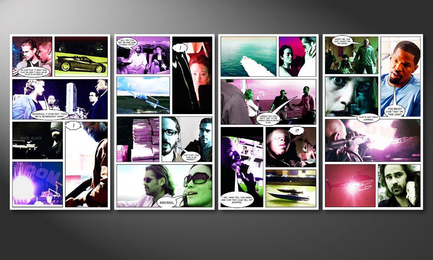 Modern wandpaneel Miami Vice 160x70x2cm